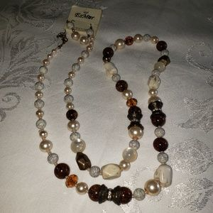 """36""""  necklace and earrings"""